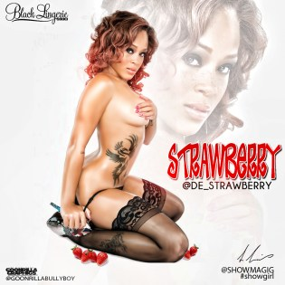 Demisha Robbins @de_strawberry - Show Magazine - Black Lingerie 004