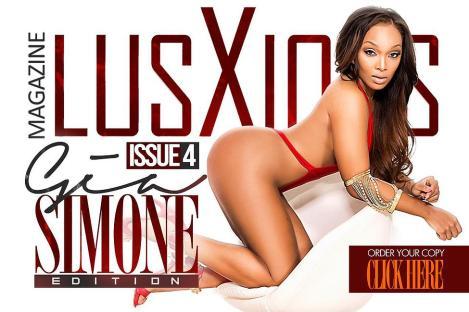 Gia Simone on the cover of Lusxious Magazine issue 2