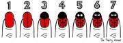 create ladybug nail design