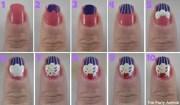 create cupcake nail design