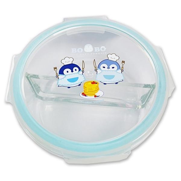 小企鵝波波 微波式玻璃便當盒