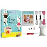 手織時光 RORO可愛又逗趣的手織娃娃X針玩偶材料套組:Q萌小兔(免出門立即鉤體驗組)
