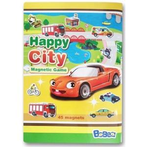 3折頁磁貼書:快樂玩車車
