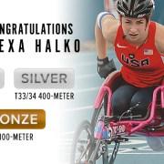 Alexa Halko Earns Three Medals at Rio Paralymics