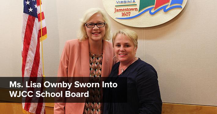 Ms. Lisa Ownby Sworn Into School Board