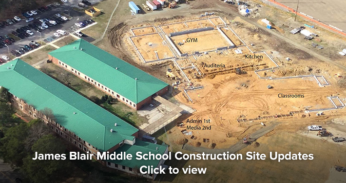 James Blair Middle School Construction Site Updates