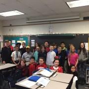 Ms. Garrett fourth grade class enjoyed ghost stories with Kiwanis member.