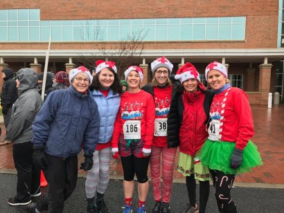 Group of WJCC nurses participating in the 9th Annual Sleighbell 5K
