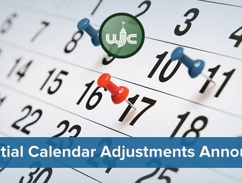 Potential Calendar Adjustments Announced