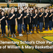 Matoaka Elementary School's Choir Performs at a College of William & Mary Basketball Game