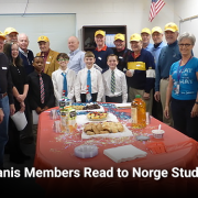 Kiwanis Members Read to Norge Students