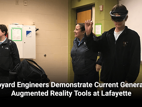 Shipyard Engineers Demonstrate Current Generation Augmented Reality Tools at Lafayette