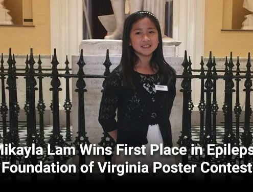 Mikayla Lam Wins First Place in Epilepsy Foundation of Virginia Poster Contest