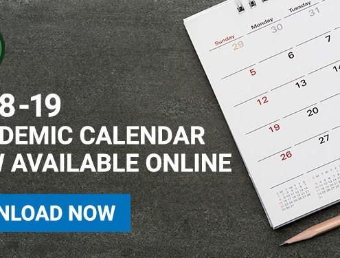 2018-19 Academic Calendar Online