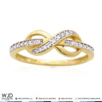 14K Yellow Gold 0.40Ct Diamond Infinity Friendship Love