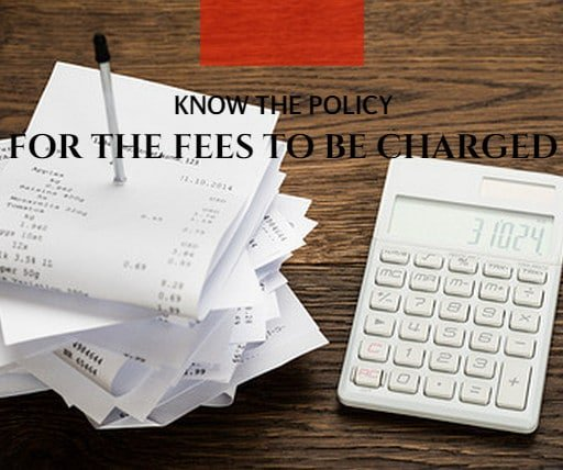 professional property management policies for fees to be charged
