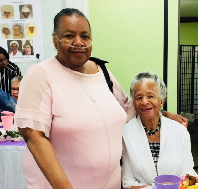 Sister Donece Lewis did an excellent job of organizing the event. Here she is with her mother who she says taught her everything she knows!