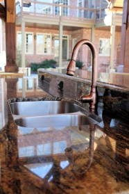 Sink with Marble Counter Top
