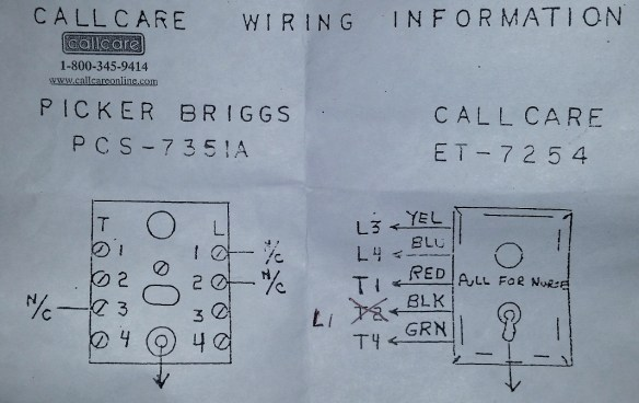 Ge Nurse Call Wiring Diagram