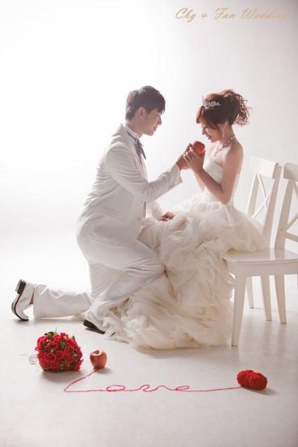 [♥囍♥]花嫁婚紗照★典雅白紗款 @小環妞 幸福足跡