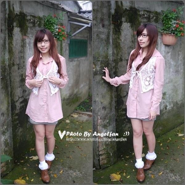 [穿搭]粉色襯衫變身千面女郎~12種LOOK穿搭 @小環妞 幸福足跡