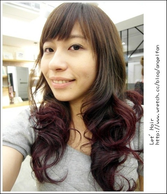[髮型]當亞麻綠巧遇莓果紫紅♥♥~流行雙色染 @小環妞 幸福足跡