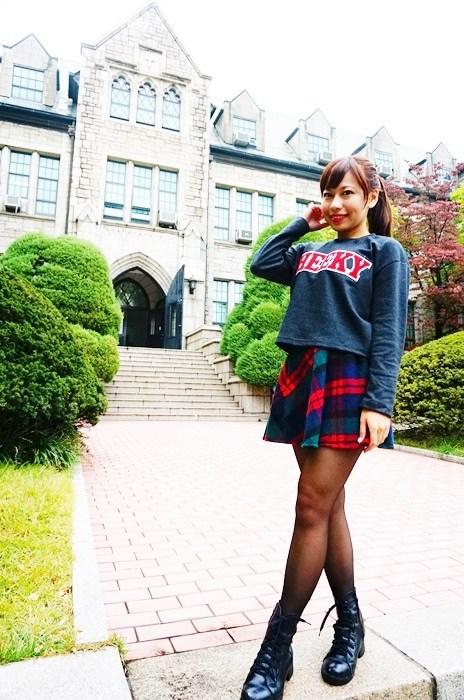 韓國穿搭,韓國穿著,首爾穿著 @小環妞 幸福足跡