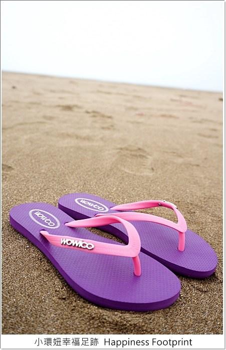 發現旅途中的好朋友,愛旅遊女孩必備亮眼夾腳鞋 @小環妞 幸福足跡