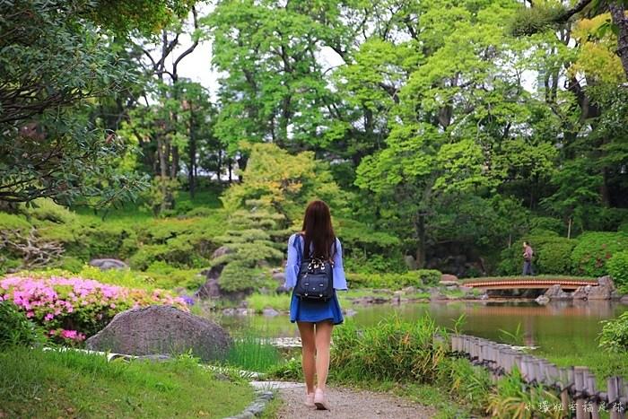 【大阪周遊券免費景點】慶澤園,城市中的綠意日式庭園,很美! @小環妞 幸福足跡