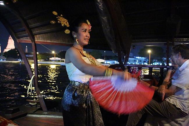 【曼谷遊船】洛伊納瓦遊輪晚餐之旅,古董柚木船享用泰式傳統料理 @小環妞 幸福足跡
