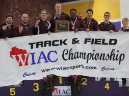 UWL mens track WIAC title indoor 2018