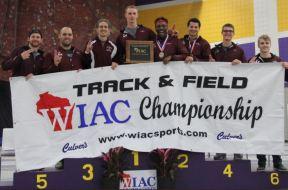 UWL mens track WIAC title indoor 2018