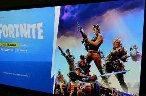 Fortnite TV screen