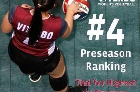 Viterbo Volleyball preseason 4 ranking