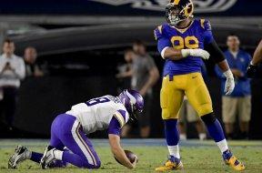 Rams Aaron Donald Vikings Cousins AP