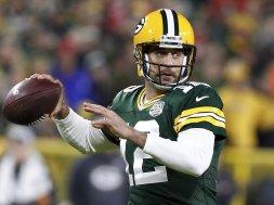 Packers Aaron Rodgers closeup AP