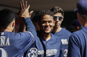 Brewers Freddy Peralta smile AP