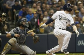 Brewers Cory Spangenberg AP