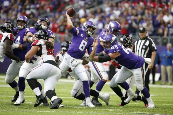 Vikings Kirk Cousins v Atlatna AP