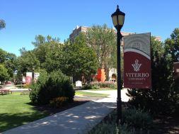Viterbo University campus sign