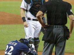 Yelich injured AP