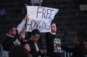Free hong kong NBA protestors AP