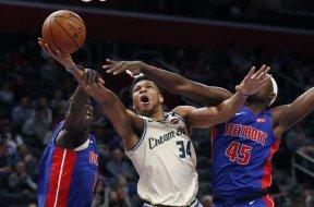 Giannis v Pistons AP
