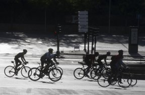Spain cyclists AP
