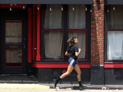 Woman running St Louis AP