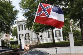 Mississippi state confederate flag AP