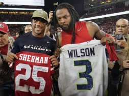 Russell Wilson Richard Sherman AP