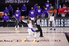 LeBron James Lakers dunk AP