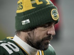 Aaron Rodgers sad face AP