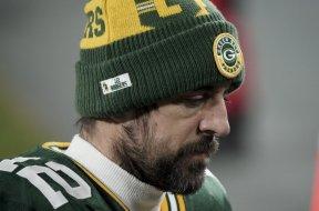 Aaron Rodgers sad face AP